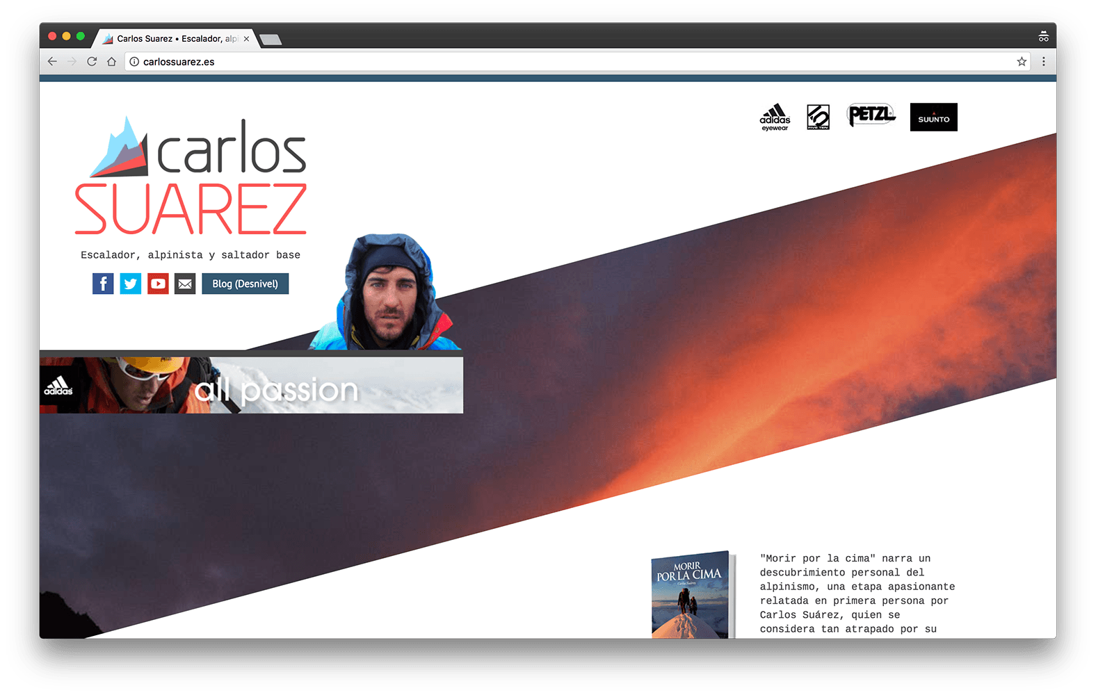 screenshot carlossuarez.es desktop