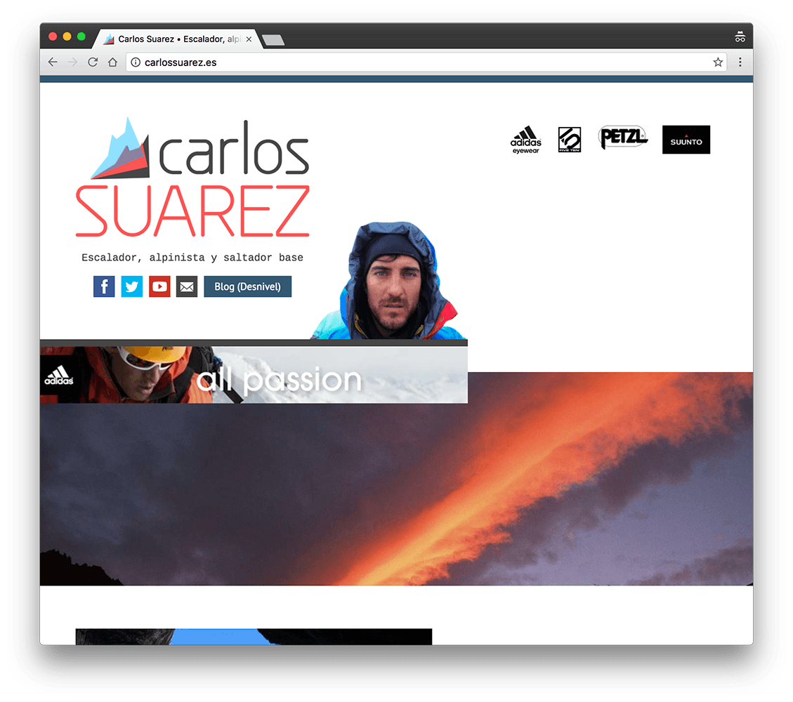 screenshot carlossuarez.es tablet